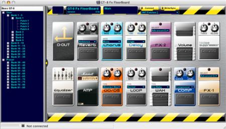 GT-8 Fx FloorBoard running on OS X