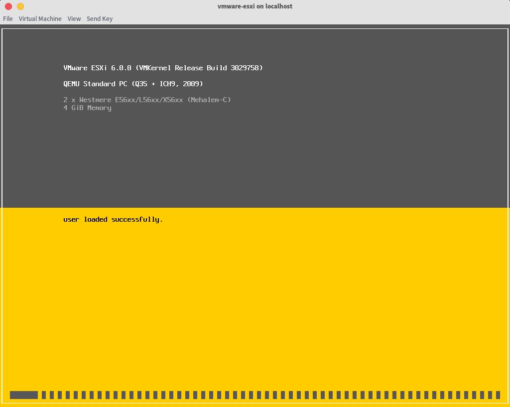 VMware ESXi installation